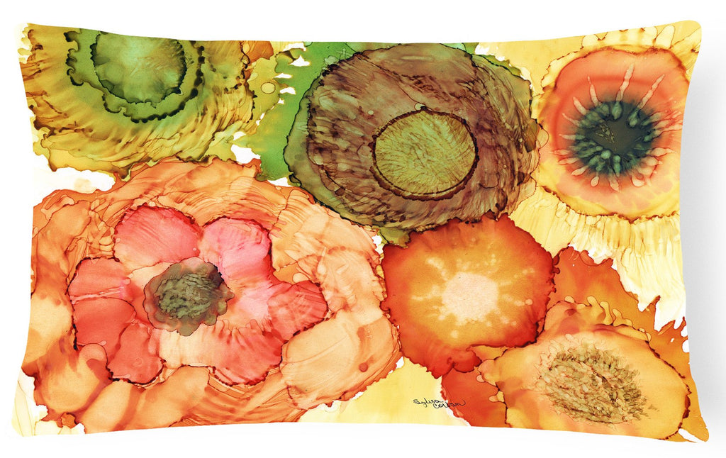 Buy this Abstract Flowers Blossoms Fabric Decorative Pillow 8970PW1216
