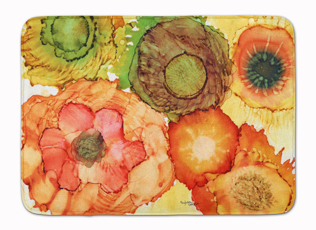 Buy this Abstract Flowers Blossoms Machine Washable Memory Foam Mat 8970RUG