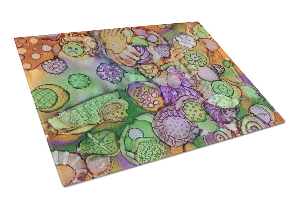 Buy this Abstract in Purple Green and Orange Glass Cutting Board Large 8971LCB