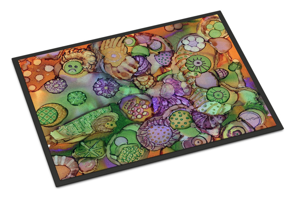 Buy this Abstract in Purple Green and Orange Indoor or Outdoor Mat 18x27 8971MAT