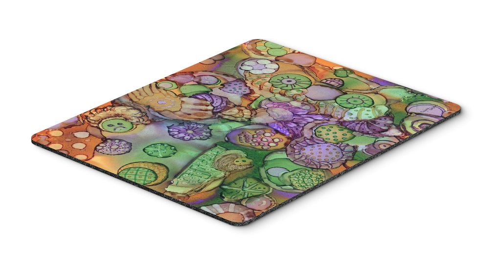 Buy this Abstract in Purple Green and Orange Mouse Pad, Hot Pad or Trivet 8971MP
