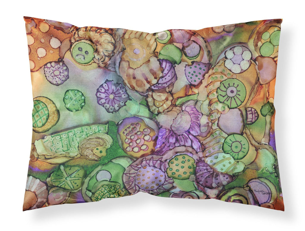 Buy this Abstract in Purple Green and Orange Fabric Standard Pillowcase 8971PILLOWCASE