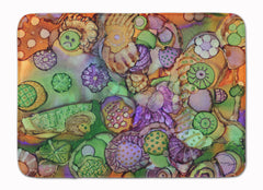 Buy this Abstract in Purple Green and Orange Machine Washable Memory Foam Mat 8971RUG