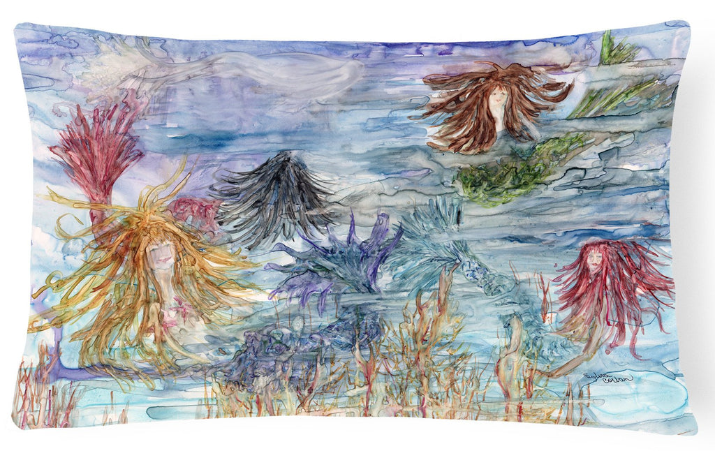 Buy this Abstract Mermaid Water Fantasy Fabric Decorative Pillow 8975PW1216