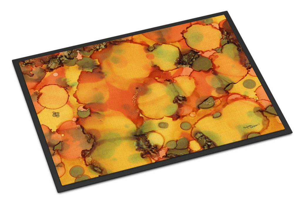 Buy this Abstract in Orange and Greens Indoor or Outdoor Mat 18x27 8976MAT