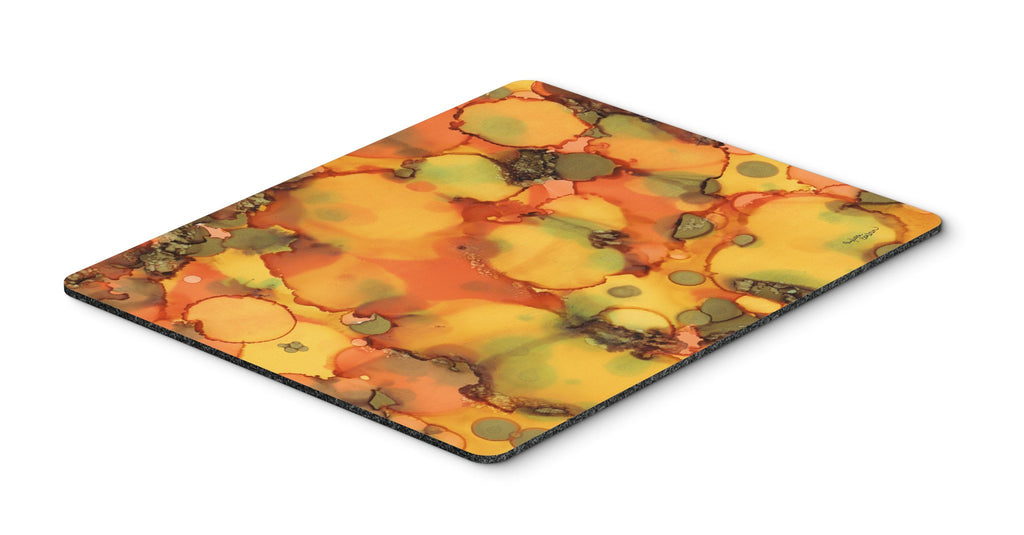 Buy this Abstract in Orange and Greens Mouse Pad, Hot Pad or Trivet 8976MP