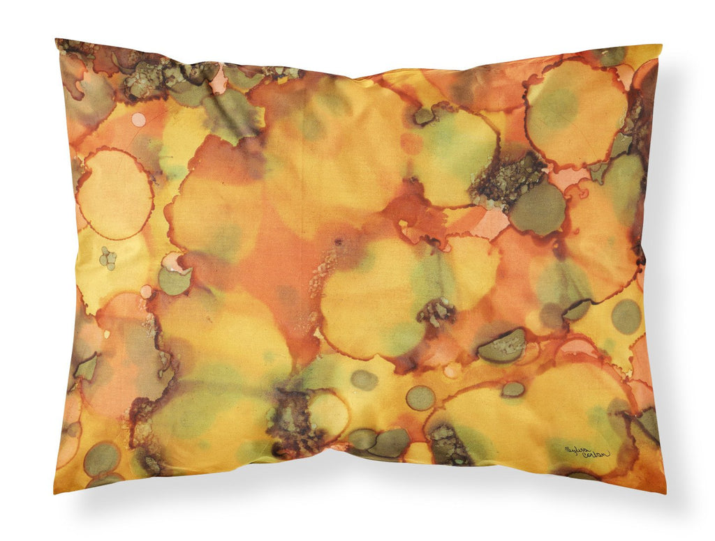 Buy this Abstract in Orange and Greens Fabric Standard Pillowcase 8976PILLOWCASE