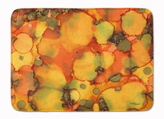 Buy this Abstract in Orange and Greens Machine Washable Memory Foam Mat 8976RUG