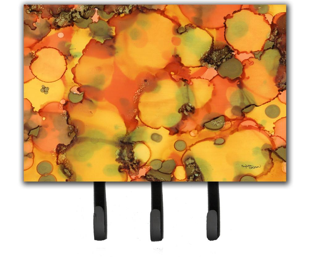Buy this Abstract in Orange and Greens Leash or Key Holder 8976TH68