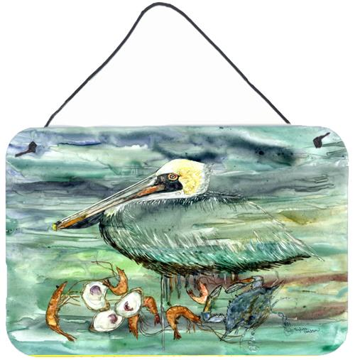 Watery Pelican, Shrimp, Crab and Oysters Wall or Door Hanging Prints by Caroline's Treasures
