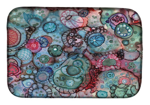 Buy this Abstract in Reds and Blues Dish Drying Mat 8982DDM