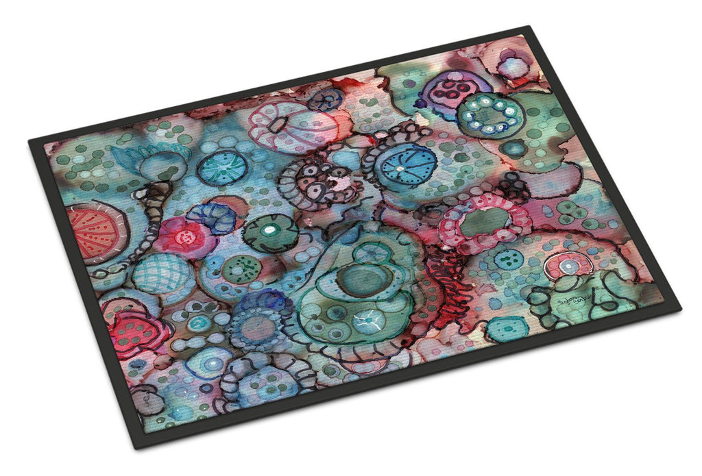 Buy this Abstract in Reds and Blues Indoor or Outdoor Mat 24x36 8982JMAT
