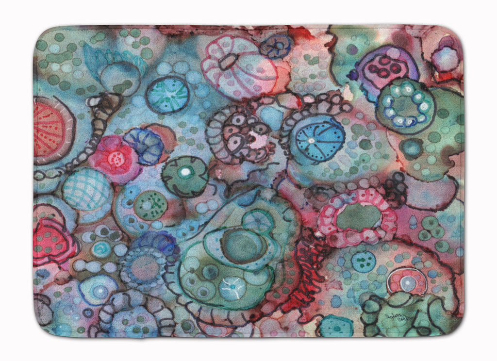 Buy this Abstract in Reds and Blues Machine Washable Memory Foam Mat 8982RUG