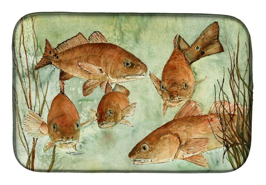 Buy this Red Fish Swim Dish Drying Mat 8983DDM