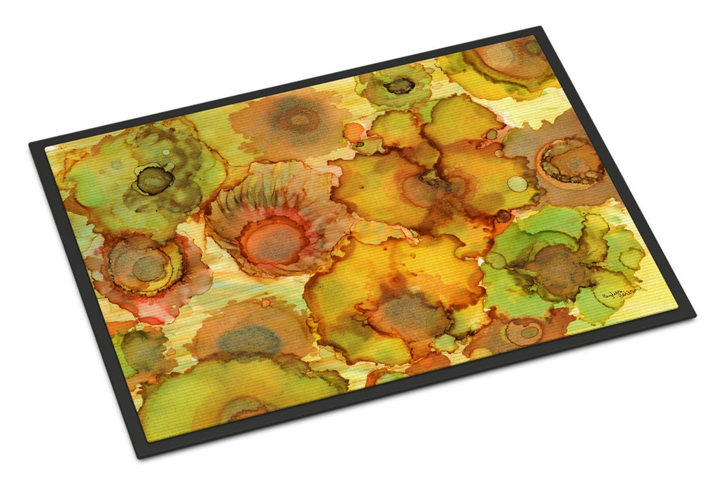 Buy this Abstract Flowers in Yellows and Oranges Indoor or Outdoor Mat 18x27 8986MAT