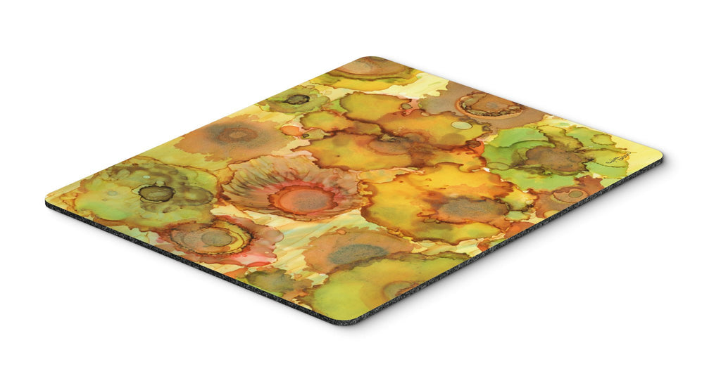 Buy this Abstract Flowers in Yellows and Oranges Mouse Pad, Hot Pad or Trivet 8986MP