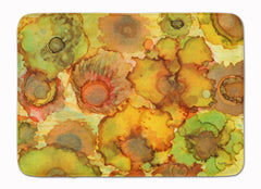 Buy this Abstract Flowers in Yellows and Oranges Machine Washable Memory Foam Mat 8986RUG