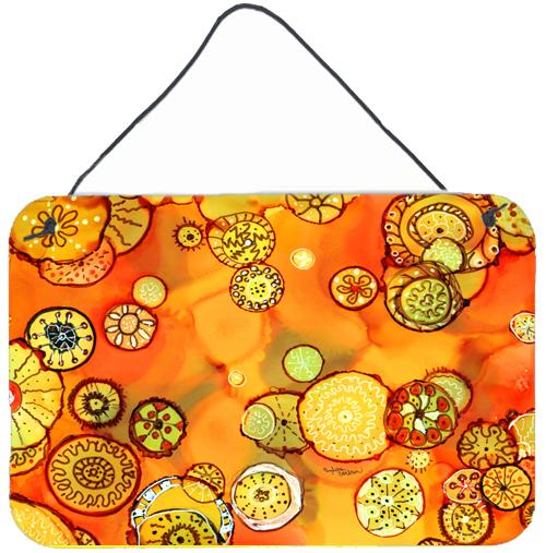 Buy this Abstract Flowers in Oranges and Yellows Wall or Door Hanging Prints 8987DS812