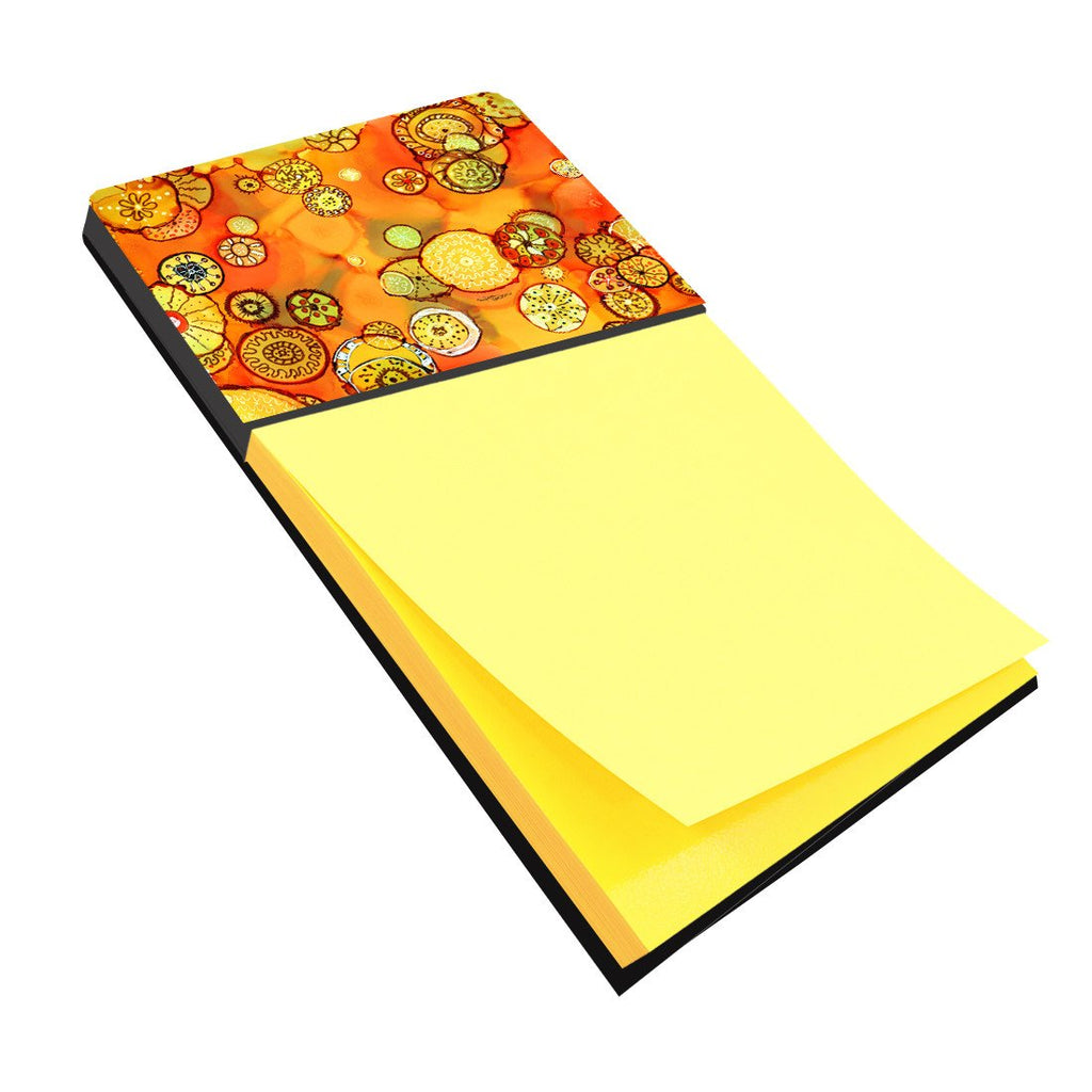 Buy this Abstract Flowers in Oranges and Yellows Sticky Note Holder 8987SN