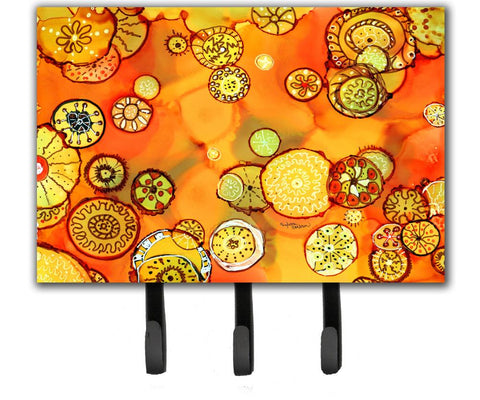 Buy this Abstract Flowers in Oranges and Yellows Leash or Key Holder 8987TH68