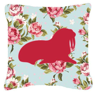 Buy this Walrus Shabby Chic Blue Roses   Canvas Fabric Decorative Pillow BB1017