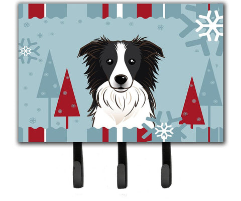 Buy this Winter Holiday Border Collie Leash or Key Holder BB1737TH68