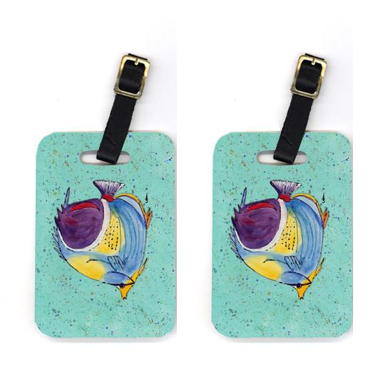 Buy this Pair of Tropical Fish on Teal Luggage Tags
