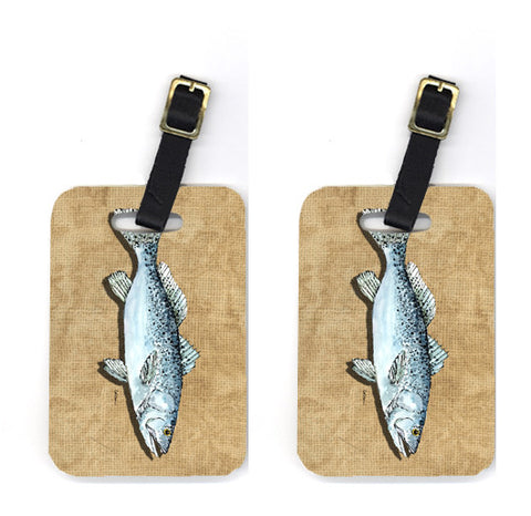 Buy this Pair of Speckled Trout Luggage Tags