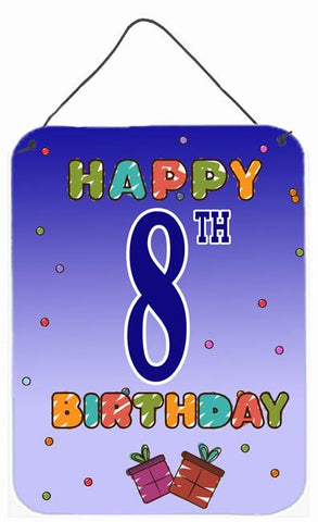 Buy this Happy 8th Birthday Wall or Door Hanging Prints CJ1099DS1216