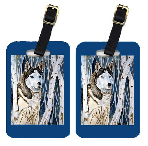Buy this Pair of 2 Siberian Husky Luggage Tags