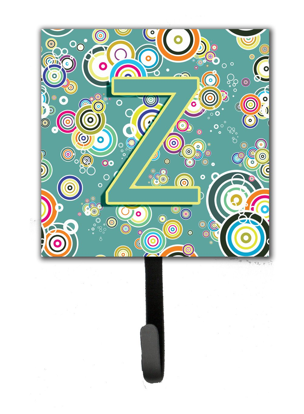 Letter Z Circle Circle Teal Initial Alphabet Leash or Key Holder CJ2015-ZSH4 by Caroline's Treasures