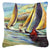 Knost Reggata Sailboats Canvas Fabric Decorative Pillow JMK1236PW1414 by Caroline's Treasures