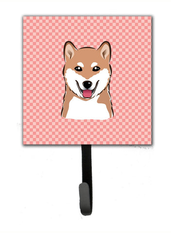 Buy this Checkerboard Pink Shiba Inu Leash or Key Holder BB1225SH4