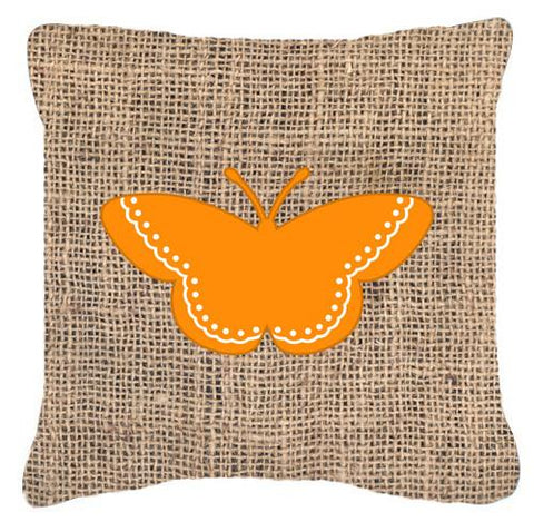 Buy this Butterfly Burlap and Orange   Canvas Fabric Decorative Pillow BB1032