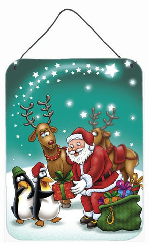 Buy this Santa Claus Christmas with the penguins Wall or Door Hanging Prints APH3872DS1216