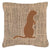 Buy this Meerkat Burlap and Brown   Canvas Fabric Decorative Pillow BB1118