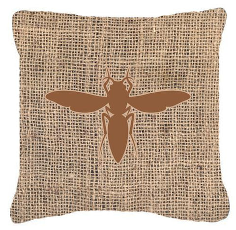 Buy this Yellow Jacket Burlap and Brown   Canvas Fabric Decorative Pillow BB1053