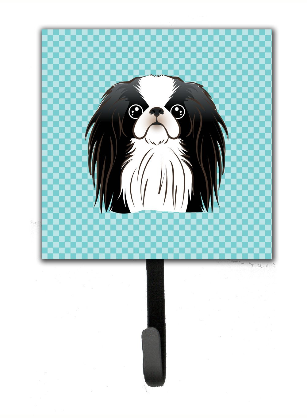 Checkerboard Blue Japanese Chin Leash or Key Holder BB1168SH4 by Caroline's Treasures