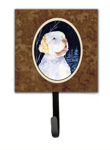 Buy this Starry Night Clumber Spaniel Leash Holder or Key Hook