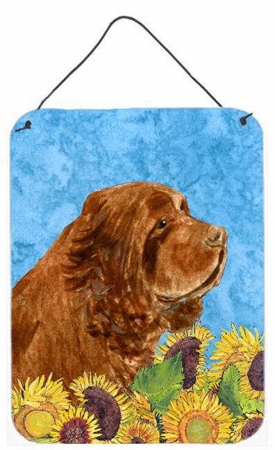 Sussex Spaniel Aluminium Metal Wall or Door Hanging Prints by Caroline's Treasures