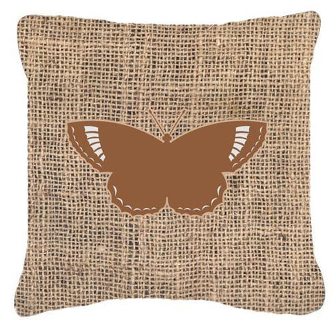 Buy this Butterfly Burlap and Brown   Canvas Fabric Decorative Pillow BB1029