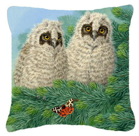 Buy this Owlets and Butterfly by Sarah Adams Canvas Decorative Pillow ASAD0724PW1414