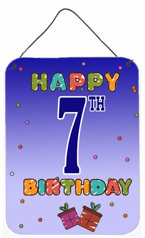 Buy this Happy 7th Birthday Wall or Door Hanging Prints CJ1098DS1216