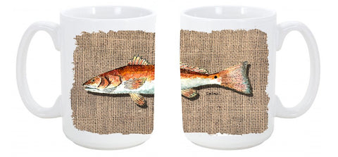 Buy this Red Fish Dishwasher Safe Microwavable Ceramic Coffee Mug 15 ounce 8736CM15