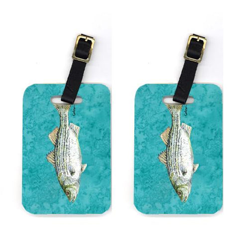 Buy this Pair of Striped Bass Fish Luggage Tags