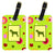 Pair of 2 Wirehair Pointing Griffon Luggage Tags by Caroline's Treasures