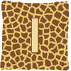 Buy this Monogram Initial I Giraffe Decorative   Canvas Fabric Pillow CJ1025