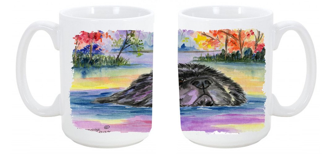 Newfoundland Dishwasher Safe Microwavable Ceramic Coffee Mug 15 ounce SS8040CM15 by Caroline's Treasures