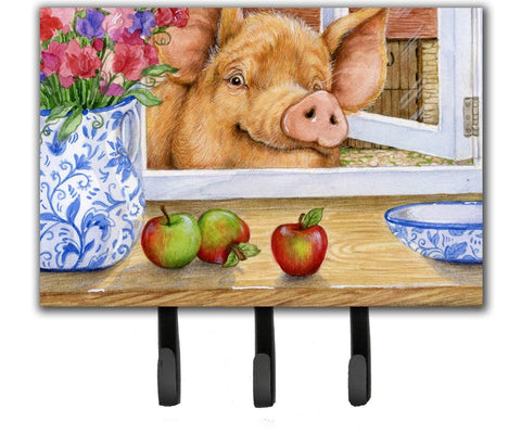 Buy this Pig trying to reach the Apple in the Window Leash or Key Holder CDCO0352TH68