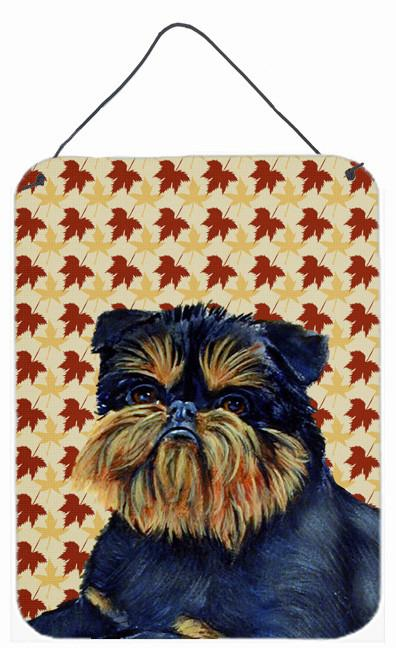 Brussels Griffon Fall Leaves Portrait Wall or Door Hanging Prints by Caroline's Treasures